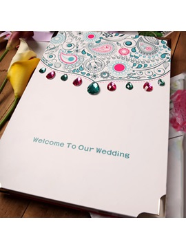 Pavane Wedding Guest Book with Beaded