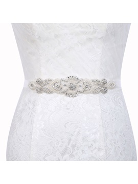 Regular(2-4cm) Polyester Rhinestone Bridal Belts 2019