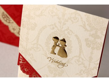 Beautiful Wrap & Pocket Wedding Invitation Cards (20 Pieces One Set)