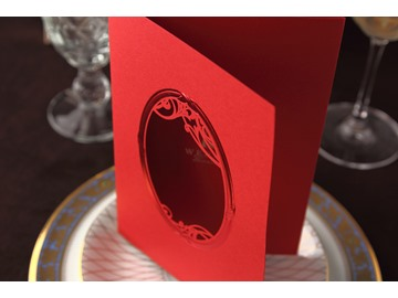 Red Wrap & Pocket Wedding Invitation Cards (20 Pieces One Set)