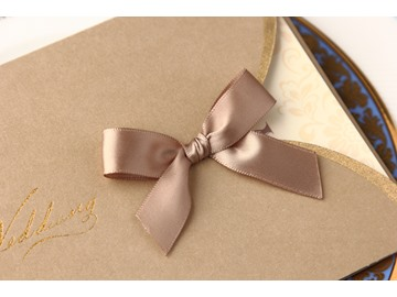 Personalized Pearl Paper Invitation Cards With Bow (20 Pieces One Set)