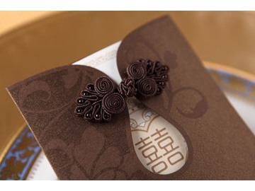 Modern Classic Style Wrap & Pocket Invitation Cards (20 Pieces One Set)