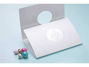 Classic Style Tri-Fold Invitation Cards (20 Pieces One Set)