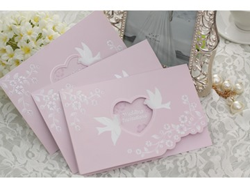 Trendy Tri-Fold Personality Style Invitation Cards (20 Pieces One Set)