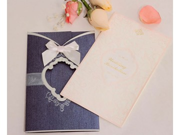 Personalized Bowknot Design Wedding Invitation (20 Pieces One Set)