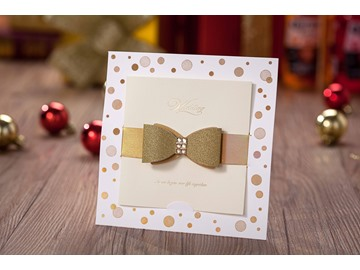 Classy Bowknot Invitation Cards  (20 Pieces One Set)
