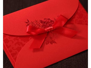 Elegant Red Wedding Invitation Cards (20 Pieces One Set)