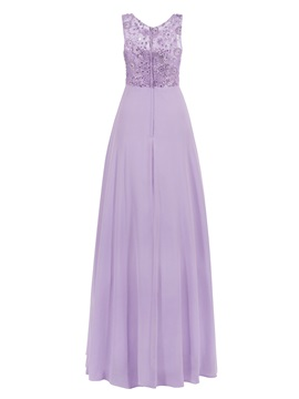 Straps Lace A-Line Pearls Long Prom Dress