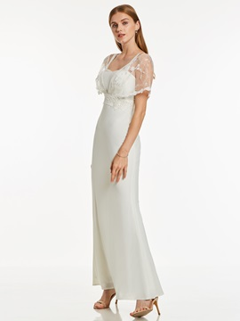 Short Sleeves Lace A-Line Evening Dress & formal Under $100