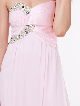 A-Line Sweetheart Beading Long Prom Dress