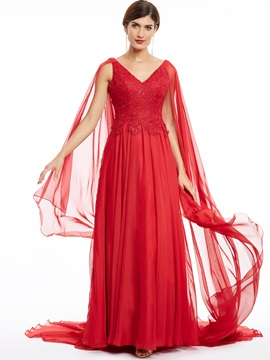 V Neck Zipper-Up Lace Appliques Long Evening Dress & Under $100 online