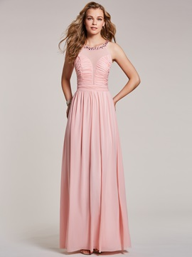 Scoop Neck Beaded Pleats A Line Prom Dress & Under $100 under 300