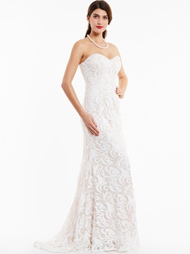 Elegant Sweetheart Zipper-Up Lace Evening Dress & Under $100 on sale