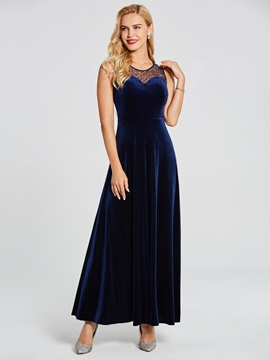V Neck Sleeveless Beaded A Line Evening Dress & Under $100 for sale
