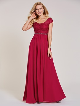 V Neck Lace A Line Evening Dress & modern Under $100