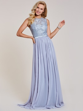 Scoop Neck Lace A Line Evening Dress & attractive Under $100