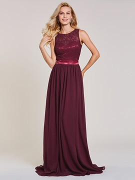 Scoop Neck Backless A Line Lace Evening Dress & Under $100 for sale