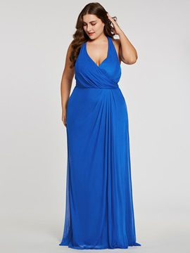 Halter Neck Pleats Sheath Long Evening Dress & Under $100 from china
