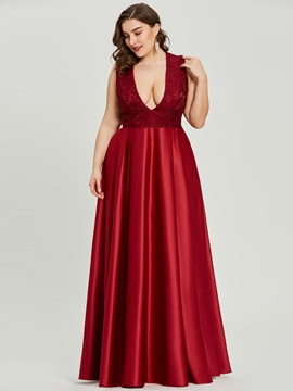 V Neck Sleeveless A Line Evening Dress & Under $100 online