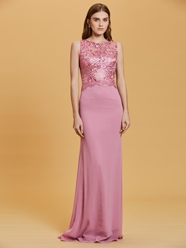 Scoop Neck Lace Appliques A-Line Evening Dress & Under $100 under 300