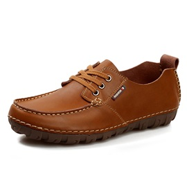 Patent Leather Plain Quilted Simple Men's Shoes