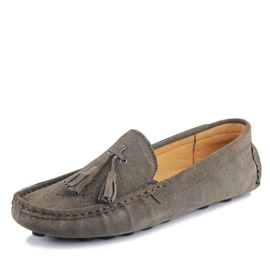 Thread Suede Slip-On Loafers