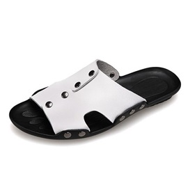 PU Studded Slip-On Sandals