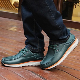 PU Thread Lace-Up Men's Casual Shoes