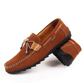 Suede Thread Slip-On Loafers
