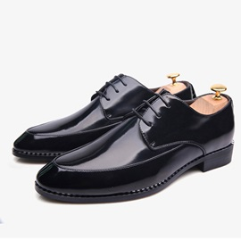 British Style Pointed Toe Lace-Up Dress Shoes