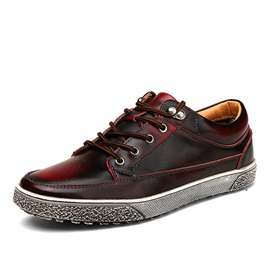 Gradient Color Lace-Up Men's Sneakers