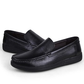 Black Slip-On Men's Casual Shoes