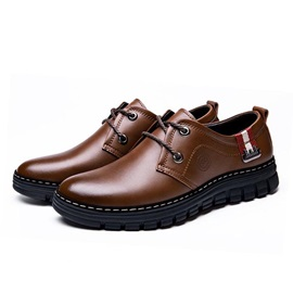 British Wedge Sole Lace-Up Casual Shoes