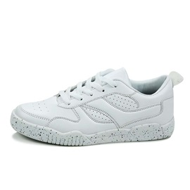 Breathable PU Lace-Up Skater Shoes