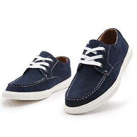 Breathable Suede Lace-Up Casual Shoes