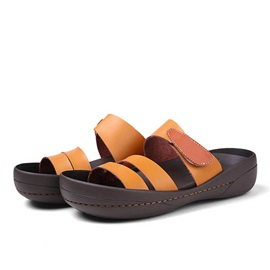 PU Open-Toe Slip-On Beach Sandals