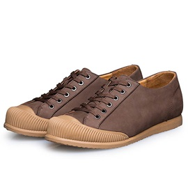 PU Patchwork Lace-Up Casual Shoes for Men