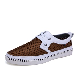 Mesh Thread Lace-Up Men's Casual Shoes