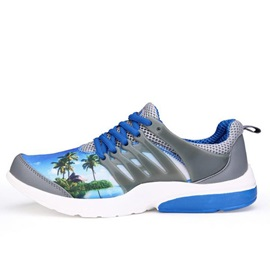 Printed Lace-Up Sport Shoes