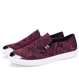Camouflage Color Low-Cut Canvas Shoes for Men
