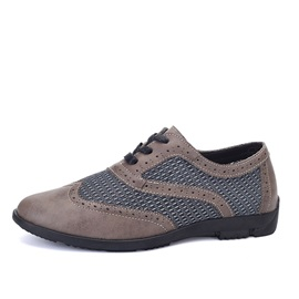 Breathable Mesh Wingtip Brogue Shoes
