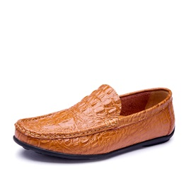 Embossed PU Slip-On Driving Shoes