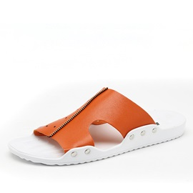 Stars PU Cut-Out Beach Sandals for Men
