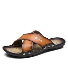 Gradient Color Open-Toe Beach Sandals for Men
