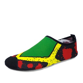 Cozy Color Block Slip-On Loafers