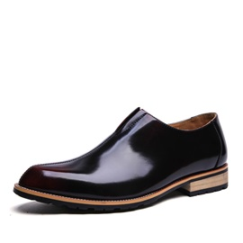 PU Thread Slip-On Dress Shoes