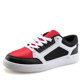 Contrast Color Lace-Up Skater Shoes