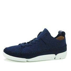 Suede Thread Lace-Up Sneakers