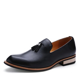 Plain Toe Square Heel Men's Dress Shoes