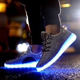 Korean Colofrul LED Lace Up Men's Sneakers